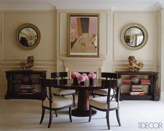 The A-list interior designers in selection by Elle Decor Decor, Mirror Decor, Dining Room Design, Elle Decor, Dining Room Inspiration, Interior, Living Room Mirrors, Home Decor, Dining Room Walls