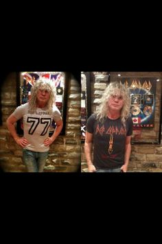Savage modeling Def Leppard T-shirts