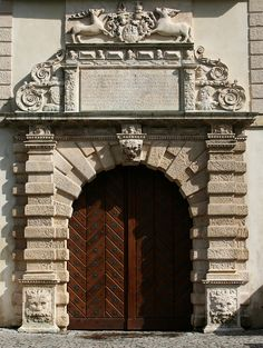 Main gate of the Krasiczyn Castle built for Marcin Krasicki between 1598 and 1614 by Galleazzo Appiani