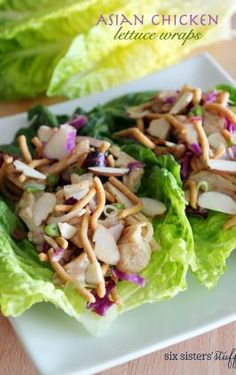 We love these Asian Chicken Lettuce Wraps for a light and healthy lunch! Asian Chicken Lettuce Wraps, Chicken Salad, Grilled Chicken, Chicken Bacon, Ritz Chicken, Glazed Chicken, Teriyaki Chicken, Quinoa, Feta