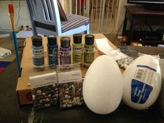GoT Dragon Egg tutorial! This is really very cool. Make your own Dragon Eggs. Pictures include list of supplies and the process. Now build a nice big fire...