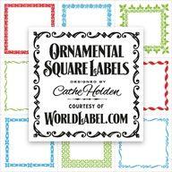Ornamental Square Labels by Cathe Holden | Worldlabel Blog