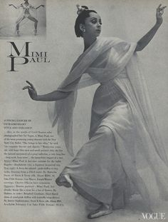From the Archives: Ballet in Vogue - Vogue Daily - Fashion and Beauty News and Features Mimi Paul Photographed by Cecil Beaton, Vogue, January 15, 1966