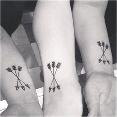For all siblings: matching tattoo ideas that are more than awesome! - For all siblings: matching tattoo ideas that are more than awesome! – The relationship between si - Brother Tattoos, Bff Tattoos, Sweet Tattoos, Cute Tattoos, Tattoos For Guys, Tattoos For Women, Three Sister Tattoos, Hp Tattoo, Tattoo Small