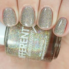 Different Dimension Champagne Rain | Let Them Eat Glitter: YWP Collab | Peachy Polish #gold