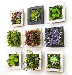 3D Beauty Creative Plant Frame Wall Stick Decoration Artificial Flower Home Deco