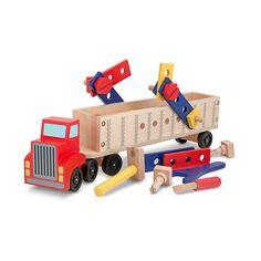 Melissa and Doug Big Rig Truck Building Set, Multicolor