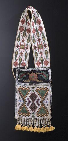 Eastern Sioux Loom Beaded Bandolier Bag, - Cowan's Auctions