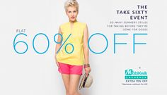 Get FLAT 60% discount on orders of Rs 999 + Extra 15% cash back at American Swan  #Discount #Fashion #Shopping #India