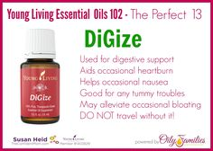 Young Living Essential Oil - DiGize - aids digestion and supports the body - perfect to take while traveling!