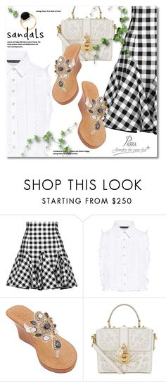 """""""Best summer weekend outfit with Pasha Jewelry for your feet"""" by svijetlana ❤ liked on Polyvore featuring Dolce&Gabbana, Marissa Webb, pasha, JewelryForYourFeet, pashasandals and pashajewelryforyourfeet"""