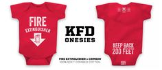 For the babies who have firefighting in their jeans! This onesie is required uniform for the FD loving parent or expectant parent. The front is about the wet stuff. The rear is about safety. Keep clear of the rear... fire trucks make sudden movements. Pre-sale for mid-November delivery. We like it a lot, and hope you do too. #kidsapparel #firefighter #baby #fire