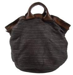 leather trimmed bag