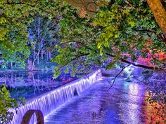 An aerial video of the waterfall at Buck Creek next to Papa Saia's in Helena, AL This Waterfall is lit up at night! Buck Creek is a Alabama Song, Waterfall, Night, Beautiful, Art, Art Background, Kunst, Waterfalls, Performing Arts
