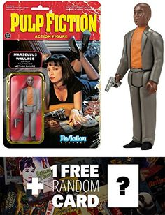 Marcellus Wallace: Funko ReAction x Pulp Fiction Action Figure  1 FREE Classic Movie Trading Card B @ niftywarehouse.com