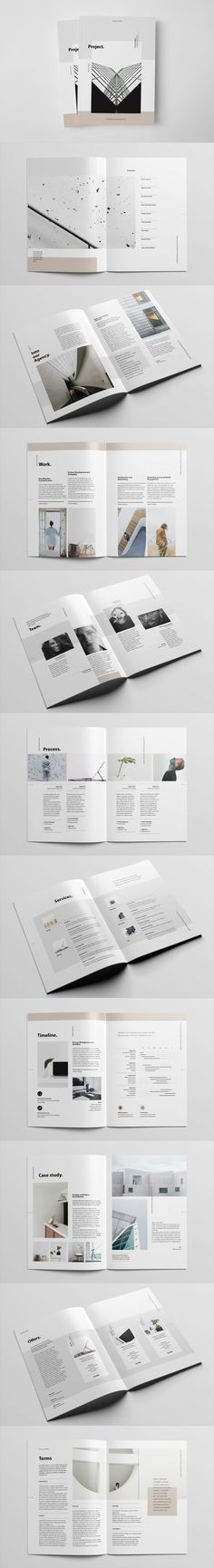 Project Proposal Brochure 22 Unique Layouts Template InDesign INDD