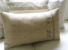 burlap french style no. pillow