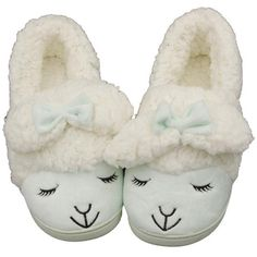 Caramella Bubble Fuzzy Lamb Slippers ($20) ❤ liked on Polyvore featuring shoes, slippers and pajamas