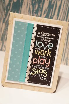 New project on my blog! Check it out for more crafty inspiration  #unitystamps #inspirational #card #clean #simple # fast #embossing #copics  http://thegreencricut.blogspot.ca/2014/04/clean-and-simple-inspirational-card.html