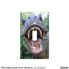 T-Rex Light Switch Cover.  Because, why not :) Light Switch Plates