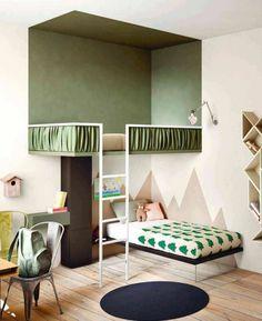 originale idee pour creer la plus belle chambre ado fille en beige et vert