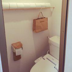 Bathroom/一人暮らし/つっぱり棒/シンプル/賃貸/アイディア収納...などのインテリア実例 - 2016-06-07 08:15:33