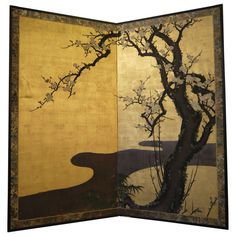 Japanese Screen with Cherry Blossoms