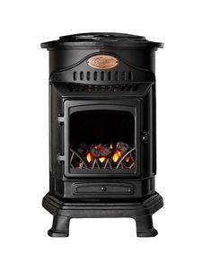 Provence Living Flame Mobile Stove-Matt Black-Portable Calor Gas Heater