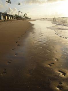 #footprints #sand #beach #brazil #brasil #bahia #laurodefreitas