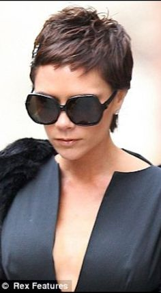 The one and only Mrs Victoria Beckham. She looks so much better with the pixie cut