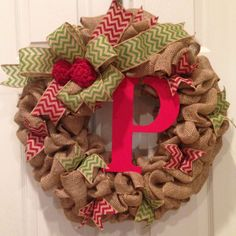 burlap christmas wreaths to make - Google Search