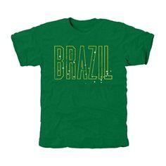 Brazil Flag Tri-Blend T-Shirt - Green