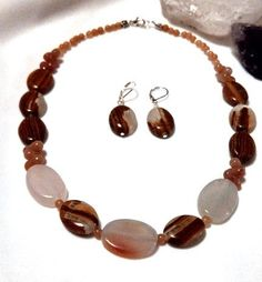 Amazonite and natural stone necklace and by InsomniacTreasures, $54.00