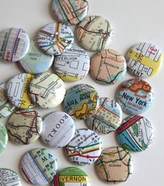 Magnet maps. This would be fun to make with maps and locations from my life