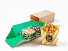 Beautiful & Innovative sandwich package design.