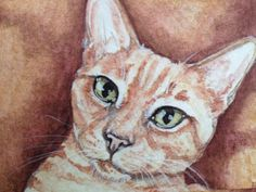 HIGH QUALITY PRINT of original watercolor painting ACEO (art cards editions and originals) by Halie French. ATC or art trading cards are highly collectible 2.5 x 3.5 pieces of artwork. Detailed and lovely to display, very cute and highly affordable pieces of artwork.