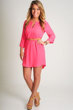 EVERLY: One Night Town Dress: Watermelon