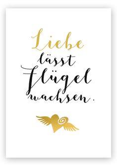 Taufgeschenke: Geschenke & Geschenkideen zur Taufe, Geburt , Hochzeit. Kinder Bilder mit Namen: Liebe lässt Flügel wachsen - Fineart-Kunstdruck