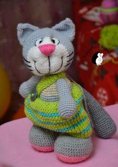 Crochet PATTERN HAPPY CAT от magicfilament на Etsy, $7.50