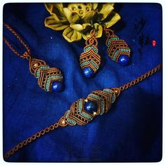 56 Macrame Rings, Rope Jewelry, Macrame Art, Macrame Projects, Macrame Necklace, Macrame Knots, Macrame Bracelets, Jewelery, Necklace Set