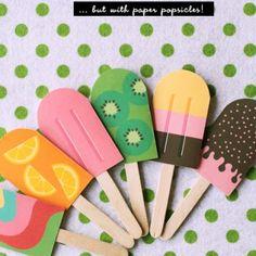 DIY Paper Popsicle Memory Game {Free Craft Printables} - Tip Junkie