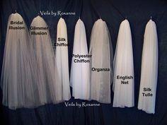 Choose your bridal veil fabric. Most wedding veils are bridal illusion or glimmer illusion. Make yours different: chiffon, organza, English net, silk tulle Veil Diy, Diy Wedding Veil, Dream Wedding, Wedding Ideas, Wedding Hair, Crazy Wedding, Wedding Garters, Wedding Broom, Vail Wedding