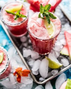 Thursday Margaritas anyone!?! Watermelon Cucumber Margaritas are what's on tap for today's #cincodemayo celebrations!! It's 5 o'clock somewhere right!?!? Get the full recipe by clicking the @halfbakedharvest link in my profile!  by halfbakedharvest