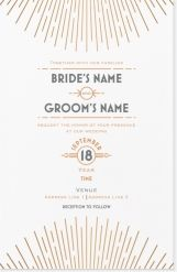 lines modern Invitations & Announcements