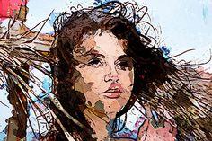 Pintura digital - Rostro de Mujer - imprimación sobre lienzo - 60x40cm - Luis Cebrián -2016