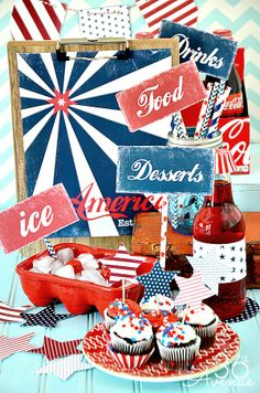 Fourth of July Free Printables... Everything you need to celebrate!!! t