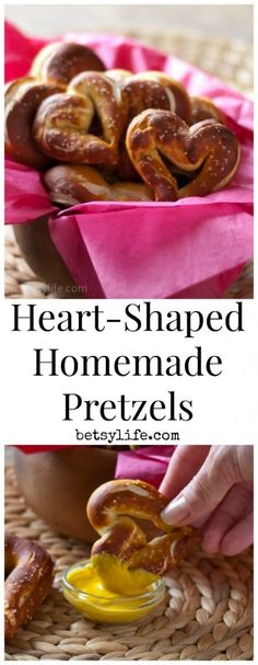 Heart-Shaped Homemade Pretzels recipe. A great idea for your valentine who prefers a salty treat over a sweet one