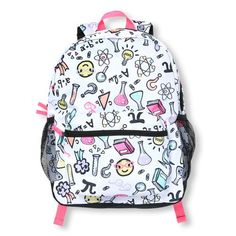 1caefc4d66ed Girls Super Science Print Backpack - White - The Children s Place