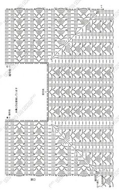 Crochet blouse diagram