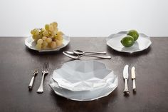 Incredible geometric dinnerware. Designed in Czech Republic, made from the finest porcelain. A wedding gift must www.lauriger.com